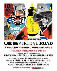 U2 Virtual Road Poster